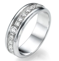 Picture of 3/4 carat wedding band.5.75 mm