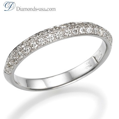3mm Knife Edge wedding ring with diamonds