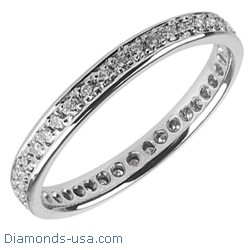 2.5mm Eternity Wedding Band, 0.35carats