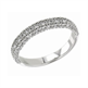 Picture of Three rows diamond wedding or anniversary band