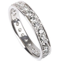 Picture of Eternity ring with 0.64 carat round diamonds