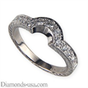 Picture of Hand engraved wedding ring with diamonds