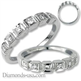 Picture of Wedding or anniversary ring with side diamonds