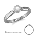 Picture of Low Profile Bezel set, solitaire engagement ring