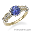 Picture of Diamonds and Blue Sapphires cocktail ring