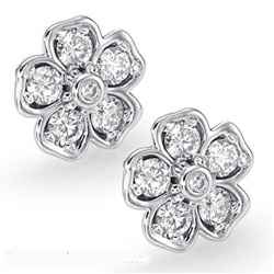 Hearts diamond earrings, 1.01 carats