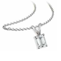 Picture of Solitaire Pendant for Emerald cut diamonds