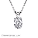 Picture of Solitaire Pendant for Oval diamonds