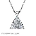Picture of Triangle Diamonds, solitaire pendant-Settings.