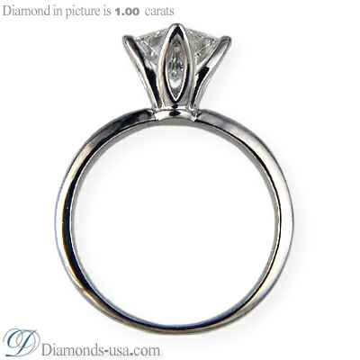 Tulip style solitaire engagement ring