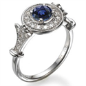 Picture of Victorian engagement ring with Sapphires & diamonds