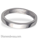 Picture of 3 mm, Flat surface wedding ring
