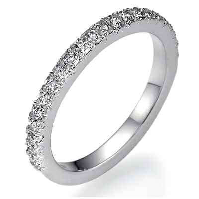Pave diamond wedding band 1/4 carat