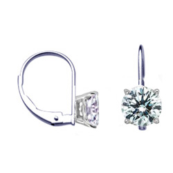 Locked French wire Hinged earrings for Rounds