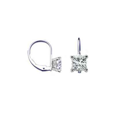 Locked French wire hinged Princess earrings