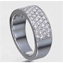 Picture of 1 carats 4 diamond rows Pave set wedding ring