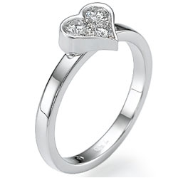 My sweetheart ring, with 0.27 carat diamonds