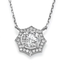 Picture of Halo diamonds pendant-The Sun
