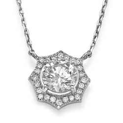 Halo diamonds pendant-The Sun