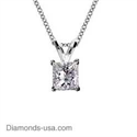 Picture of Princess diamonds Solitaire pendant