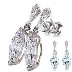 Stud and drop Marquise earrings