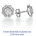 Picture of The Sun diamond earrings