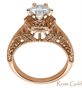Picture of Unique Vintage Filigree style engagement ring