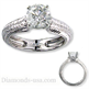 Picture of Vintage Hand engraved heavy contour engagement ring