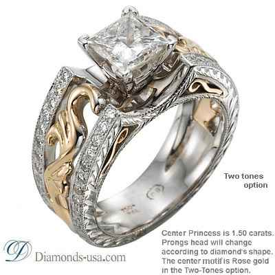 Exclusive Vintage replica Engagement ring