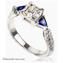 Picture of Vintage engagement ring, diamonds & Sapphires