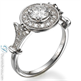 Picture of Vintage look engagement ring