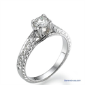 Picture of Vintage style engagement ring, hand engraved