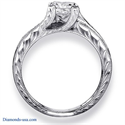 Picture of Hand Engraved Vintage Princess engagement ring settings