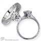 Picture of Vintage Hand engraved solitaire engagement ring