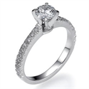 Picture of All Pave engagement ring