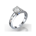 Picture of 0.43 carat side Bagette diamonds settings