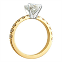Picture of Engagement ring for large diamonds, 1 cts side diamonds