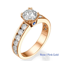 Picture of 1 carat of side diamonds engagement ring