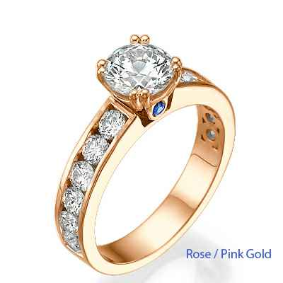 1 carat of side diamonds engagement ring