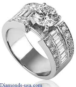 Custom made tapering engagement ring