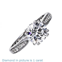 Picture of Double prongs designers engagement ring