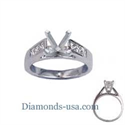 Picture of Engagement ring settings, 0.5 carat accent Princess