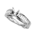 Picture of Engagement ring settings, side Baguettes 0.95 carat