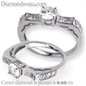 Picture of Engagement ring with side diamonds, 0.18 carats