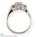 Picture of Engagement ring with side Princess pink Sapphires