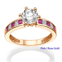 Picture of Engagement ring with side Rubies & Diamonds