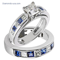 Picture of Engagement ring settings, diamonds & sapphires