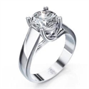 Picture of CrissCross, solitaire engagement ring
