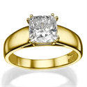 Picture of 5 mm wide Cushion engagement ring