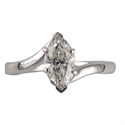 Picture of Low profile embracing ring for Marquise diamonds